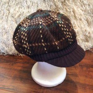 Vintage Plaid Newsboy Cabbie Hat